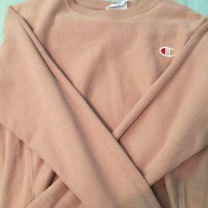 Champion long sleeve light pink sweatshirt